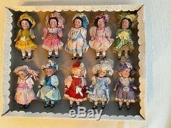10 antique porcelain dolls in the original box The Kühnlenz brother