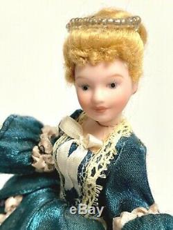 112 Dollhouse Miniature Doll Vintage Victorian Handcrafted Porcelain Ooak Euc