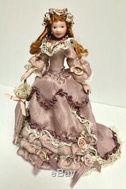 112 Vintage Dollhouse Miniature Doll Victorian Handcrafted Porcelain Ooak Euc