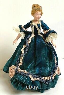 112 Vintage Dollhouse Miniature Doll Victorian Lady Handcrafted Porcelain 6