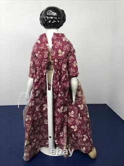 16 Antique German Bisque China Head Doll Kister BL Flat Top Original Body #A