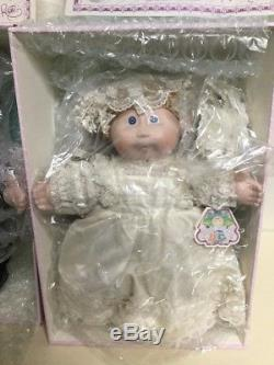 16 Vintage Porcelain Cabbage Patch Kids Bride & Groom Pair #0451 with COA and MIB