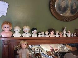 168 pc Lot Vintage & Antique Dolls & Accessories Porcelain Handwerck Marseille