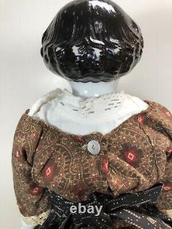 17 Antique German Porcelain China Head Doll Kestner High Brow 1870-80s #A