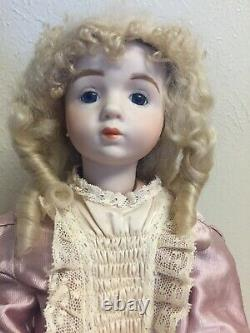 18 A. MARQUE Doll Porcelain Head/Arms Antique French Repro Seeley Body