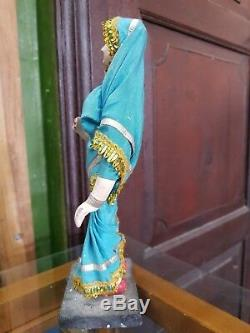 1940 Vintage Handmade Indian Woman in Saree Traditional Wearings Porcelain Doll