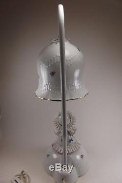 1950s White Porcelain De Main Lamp Vintage Doll Light