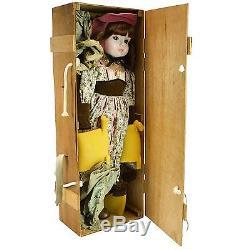 1977 NIB Sankyo Porcelain Victorian Child Girl Doll Rone Japan Large Vintage