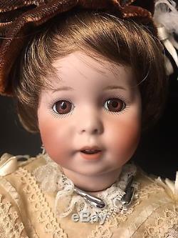 1987 Vintage Bisque Porcelain Doll SFBJ 247 New Orleans Jan Doehring Paris