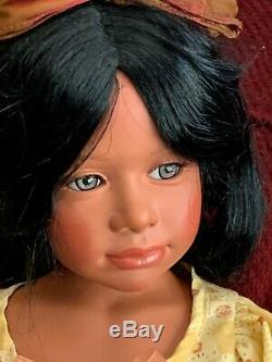 1998 LE Masterpiece Doll JASMINE 26 withHeavy Metal Stand African American RARE