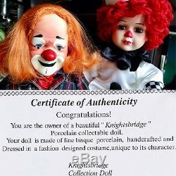 2 Vintage Boxed Knightsbridge Collection Porcelain Dolls & Original Certificates