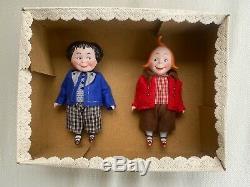 2 antique porcelain dolls Kestner Max & Moritz