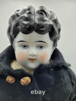 20 Antique China Head Doll with Leather Body Free Shipping