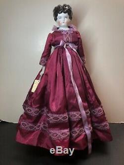 20 Antique Porcelain German Made China Head Replaced Body Beautiful Dress #SA