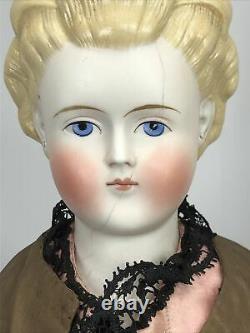 21 Antique German Alt Beck Gottschaulck ABG Parian Blonde Molded Hair Bows #Sc5