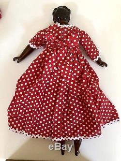21 Vintage Black Americana Porcelain Mammy African-American Doll