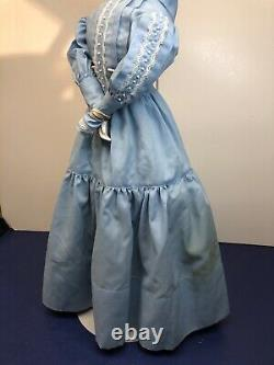 22 Antique Porcelain German Made China Head High Brow Black New Cloth Body #A
