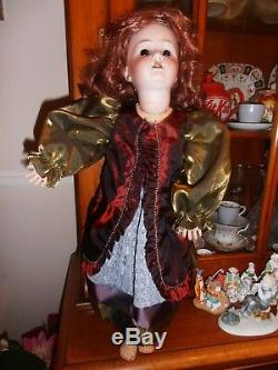 23 Antique HEUBACH KOPPELSDORF Germany Bisque/Porcelain Head Doll