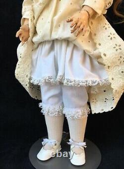 26 ANTIQUE QUEEN LOUISE BISQUE HEAD DOLL, Vtg German Porcelain Armand Marseille