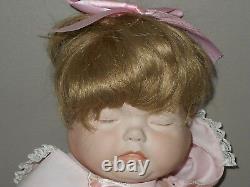 3 Face Rotating Head 18 Porcelain Baby Doll Happy Sleepy Weepy Bonnet Vintage