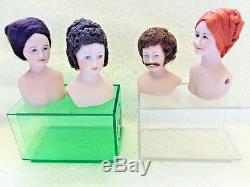 4 Female, 1 Male Vintage Miniature French Doll Kits The Doll Smiths, 1980sSilk