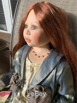 40 Christine Orange Porcelain Doll Name AMY Limited #439 Life-like vintage