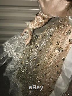 42 Inch Rustie Doll gold dress pink violet eyes vintage hUGE