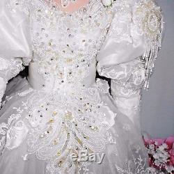 42 PORCELAIN DOLL Vintage BRIDE in ORIGINAL BOX with COA Melinda 55/400 by RUSTIE