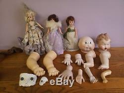 44+ Doll heads Ceramic pour elastin 80s Vintage Parts Paints Supplies clown baby