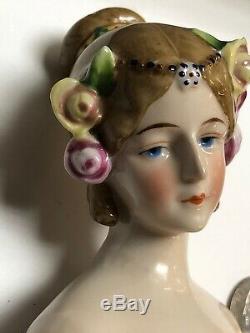 5 Antique German Porcelain Half 1/2 Doll Goebel Austmin Dancer Elssier #SE