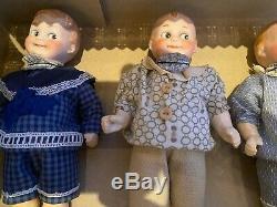 5 antique porcelain head dolls in O. K-AM Googlys-Googlies