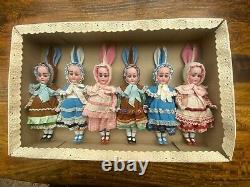 6 antique porcelain dolls, Simon & Halbig