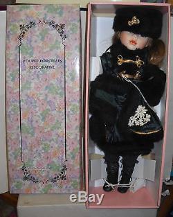 #7627 NRFB Vintage Bradley's Dolls Natasha Porcelain Doll