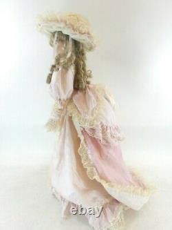 A21 28 Thelma Resch Victorian Lady Nancy Porcelain Doll Pink Gown Dress GWP