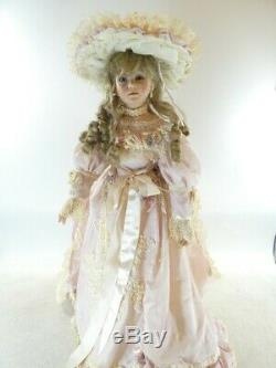 A21 Vintage Thelma Resch Victorian Lady Nancy Porcelain Doll Pink Dress 30 GWP