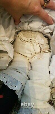 ANTIQUE 25 ALT BECK GOTTSCHALK ABG 784 CHINA HEAD DOLL antiq body leather feet