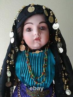 ANTIQUE REPRODUCTION. EZMERELDA By Loveless Fortune Teller Porcelain Doll. EXC