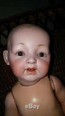 ANTIQUE VINTAGE BABY Doll KESTNER German Bisque Head 13 all original