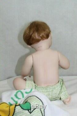 ASHTON DRAKE PORCELAIN DOLLS lot of 3 vintage babies 11 inches setting EXCELLENT