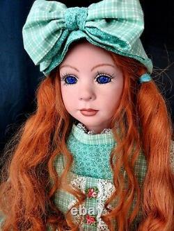 Anne of Green Gables Prarie girl 35 redhead Porcelain Artist Doll Marie Lutsky