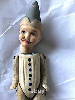 Antique 1880s early bisque porcelain wired doll. Young man. Rare