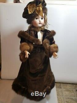 Antique 22 German doll porcelain head and Composition Jointed Body