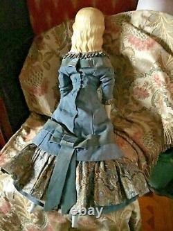 Antique 30 All Original Curriers Ives China Lady Antique Body & Antique Dress