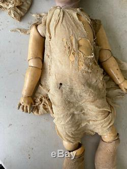 Antique 32 Kley & Hahn Walkure Porcelain Doll For Restoration Attic Find