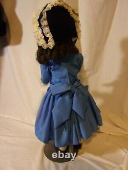 Antique Armand Marseille 390 A5M Porcelain Doll 21 Brunette Blue Eyes Lovely
