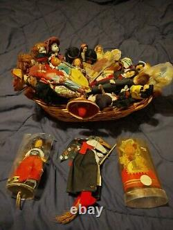 Antique Doll Collection. Various rare old vintage porcelain and handmade dolls