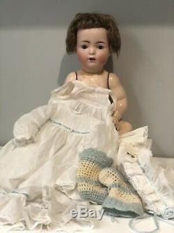 Antique Franz Schmidt 19 Porcelain Baby Doll Composition Body