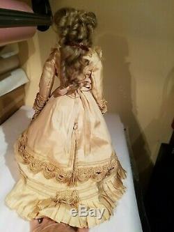 Antique French Poupee fashion bisque porcelain doll #4 17