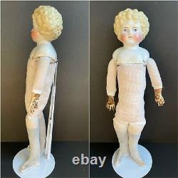 Antique German 19 Alt Beck & Gottschlack ABG 1008 Curly Hair Blonde China Doll