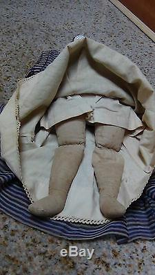 Antique German C 1840 China Porcelain Head And Shoulder Doll From Museum Of Doll